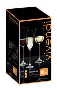 Nachtmann Vorteilsset 2 x  18 Glas/Stck Kelche 7350/18tlg. Vivendi 88260 und Gratis 1 x Trinitae Körperpflegeprodukt