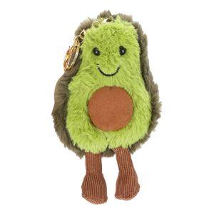 Cartoon Mini Avocado Puppen Schlüsselbund Plüsch Schlüsselring Backbag Anhänger Ornamente Geschenk