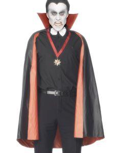 Cape Umhang zum Wenden passend zum Vamir Dracula Kostüm Halloween