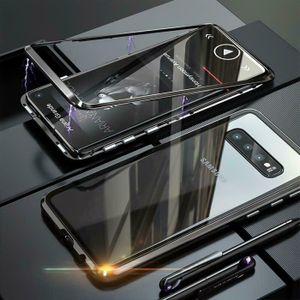 Hülle Magnet für Samsung Galaxy S10 Schutzhülle Cover Glas Handy Tasche Panzer Case