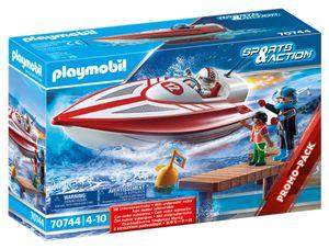 PLAYMOBIL Family Fun 70744 Speedboot mit Unterwassermotor