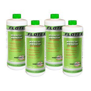 Flotex Waschbenzin, 4 x 1L Reinigungsbenzin Textil & Kunststoff, Oberflächen & Arbeitsgeräte