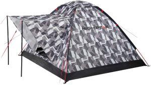 High PEA Campingzelt 3 Personen, 1500mm wasserdicht, Kuppelzelt mit Vorbau, Igluzelt mit Wetterschutz- Dach, Festivalzelt mit Wannenboden