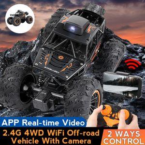 HD Kamera APP-Control Ferngesteuert Geländewagen 2.4G WiFi RC Auto 4WD Off-Road