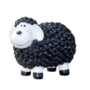 Schwarzes Schaf Gartenfigur 23 cm hoch Deko Figur