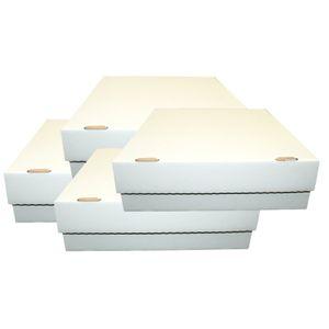 4 Riesen Deck-Boxen -  Aufbewahrung (weiß) für je 4000 Karten (Magic / Pokemon / YuGiOh Karten) + collect-it Hüllen