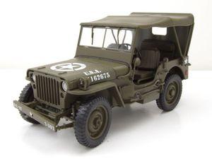 Willys Jeep geschlossen US Army Militär 1941 olivgrün Modellauto 1:18 Welly