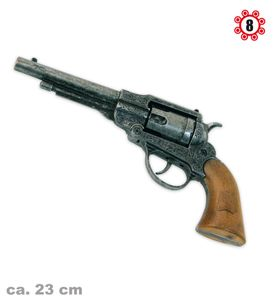 Kostüm Zubehör Revolver Navy Antik (8er Ring Munition) zu Karneval