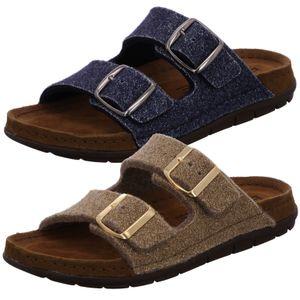 Rohde Damen Pantoffeln Hausschuhe Pantolette Softfilz Rodigo-D 6196, Größe:40 EU, Farbe:Blau