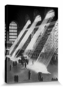 New York Poster Leinwandbild Auf Keilrahmen - New York Central, David Cowden (80 x 60 cm)
