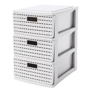 Schubladenbox A5, 3 Schübe COUNTRY, Farbe:Weiß