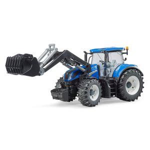BRUDER Kinder Spielzeug Traktor blau New Holland T7.315 mit Frontlader / 03121