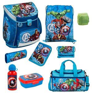 Avengers Schulranzen Set 9tlg Scooli Campus Fit  Pro Schultasche 1. Klasse mit  Sporttasche blau