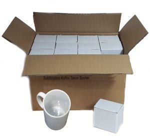36 Stück Fototasse Sublimation Kaffee Tassen Becher weiss