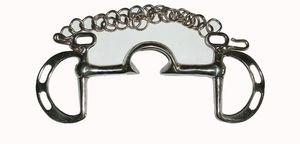 Springkandare mit hoher Zungenfreiheit, Edelstahl, Größe:125mm