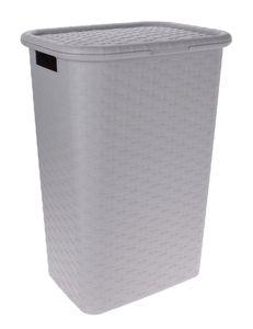 Wäschebox in Flechtoptik - Farbe: grau