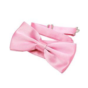 DonDon Edle rosa Fliege bzw. Schleife mit Haken - bereits gebunden und verstellbar