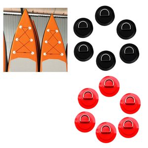 12 Stücke Kajak Ersatz D Ring Pad / Patch Für Schlauchboot Beiboot Kajak Zubehör   Durable Marine 316 Edelstahl wie beschrieben Schwarz Rot