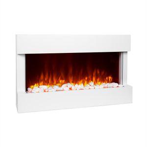 Klarstein Studio 1 Elektrischer Kamin Elektrokamin, 1000 / 2000 W, LED-Flammenillusion, Fernbedienung, Thermostat: 10 - 30 °C, Wochentimer, Open Window Detection, Überhitzungsschutz, MDF-Gehäuse, weiß