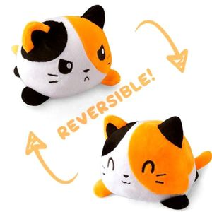 Doppelseitige Flip Katze Puppe Plüschtier Niedlichen Flip Sanft  Plüsch Katze-Blume Katze 15cm