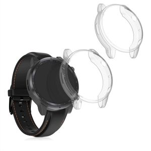 kwmobile 2x Sport Schutzhülle kompatibel mit Ticwatch Pro 3 / Pro 3 Lite - Hülle Silikon klar ohne Tracker Transparent