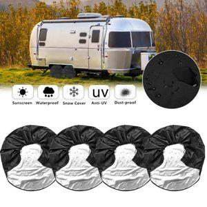 4 Stück Radabdeckung Reifenabdeckung Radschutzhülle Wohnwagen Wohnmobil Anhänger 24-26 Zoll