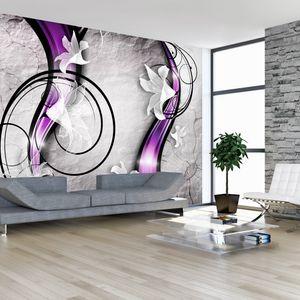 Vlies Tapete ! Top ! Fototapete ! Wandbilder XXL ! 400x280 cm - Blumen Abstrakt Ornament Design a-A-0037-a-c