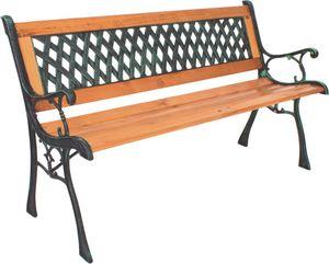 Garden Pleasure 304901 Parkbank 'Windsor' elegante 2-Sitzer Bank 125 x 74 cm