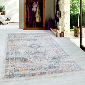 Designteppich VINTA Kurzflor Teppich Orientmuster Vintage Muster Multi, Grösse:200x290 cm, Farbe:Multi
