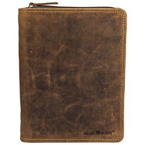 Greenburry Vintage Leder Schreibmappe A5 Konferenzmappe 1633-25