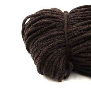 100m Kordel | 100% Baumwolle | 4mm mit Polyester Kern | braun