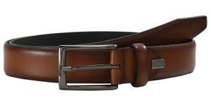 LLOYD Men's Belts Gürtel Herrengürtel Ledergürtel Cognac 7809, Länge:95, Farbe:Braun