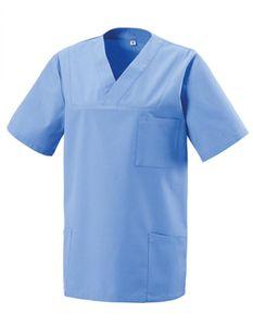 Schlupfkasack - Bügelleicht- und Softausstattung - Farbe: Light Blue - Größe: S