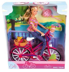 Simba 105739050 Steffi Love, Bike Tour, inklusive Fahrrad, Baby und Zubehör