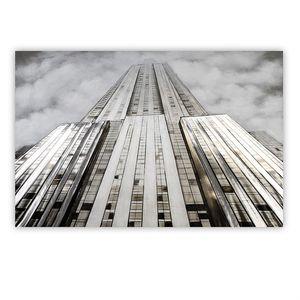 Gilde 3D Ölbild Tower mit Aluminium 150x100 (BxHxT) 100 x 150 x cm