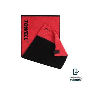 Towell Multifunktions-Handtuch rot mit Clip schwarz Stand.-Var.