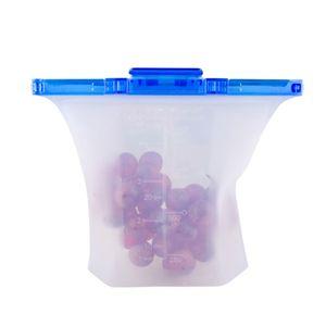 Lebensmittelbeutel Tragbarer Lebensmittel-Silikon Auslaufsicherer Lebensmittelbeutel Obst Gemuesebeutel Aufbewahrungsbeutel Lebensmittelverpackung Druckverschlussbeutel