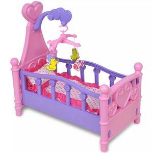 Puppenbett Etagenbett Stapelbett Bett Kinderspielzeug Rosa + Lila