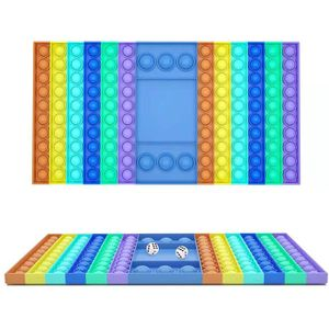 Checkerboard PopIt Fidget Toy Antistress Push Bubble Sensory Stress Relief Home Friend Game