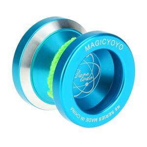 Professionelle Magic Yoyo N8 Aluminiumlegierung Metall Yoyo 8 Ball KK Lager mit Spinning String fue r Kinder Blau