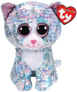 Ty Flippable Whimsy Katze blau 15 cm
