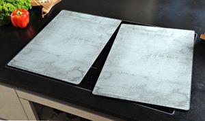 Kesper XL Herdabdeckplatte - Motiv: Beton