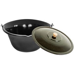 """Gulaschkessel mit Deckel 22 Liter von Grillplanet® """"Black Edition"""""""