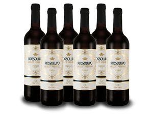 Torrevento Merlot-Primitivo Rossolupo - Italien-Apulien Vorteilspaket (6x 0,75l) Rotwein trocken