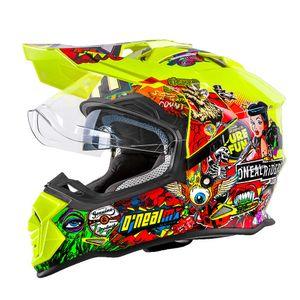 Oneal Sierra II Enduro Motocross Helm Crank neongelb-multi :  M (57/58)