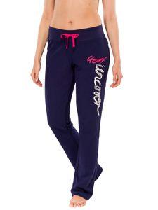 Schiesser uncover girls Damen lange Schlafanzughose Hose Lang - 143193, Größe Damen:S, Farbe:navy