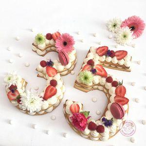 9 Zahlen-Schablonen Kuchenbox