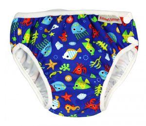 Imse Vimse Schwimmwindel, Badewindel, Aquawindel, Babybadehose Blue Sea Life S (small) 6-8 kg