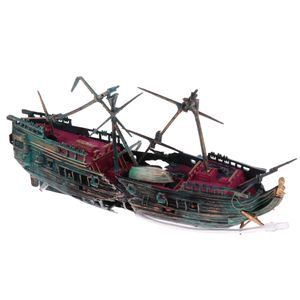 Aquarium Ornament Wrack Segelboot versenkt Schiff Aquarium verstecken Höhle Dekor # 1 wie beschrieben