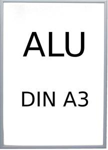 VonBueren Bilderrahmen silberfarben  29,7 x 42,0 cm DIN A3 aus Aluminium